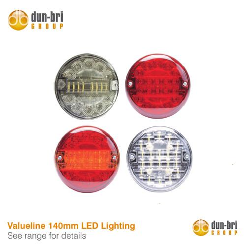 140mm LED rear lamps from Dun-Bri Group