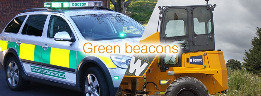 Green flashing beacons: Why use them on diggers and dumpers?