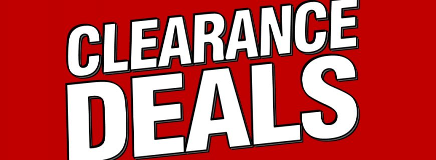 Sign up for our new Clearance Deals alerts!