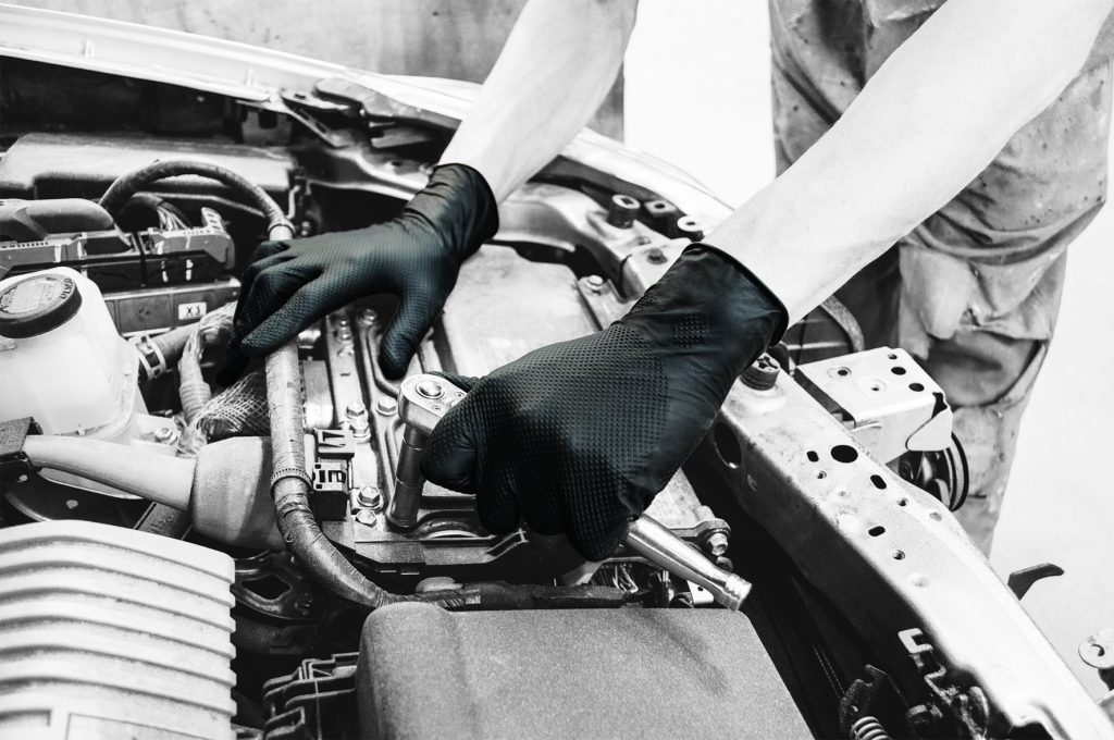 The Finite range of disposable gloves are ideal for tough environments like garages and workshops