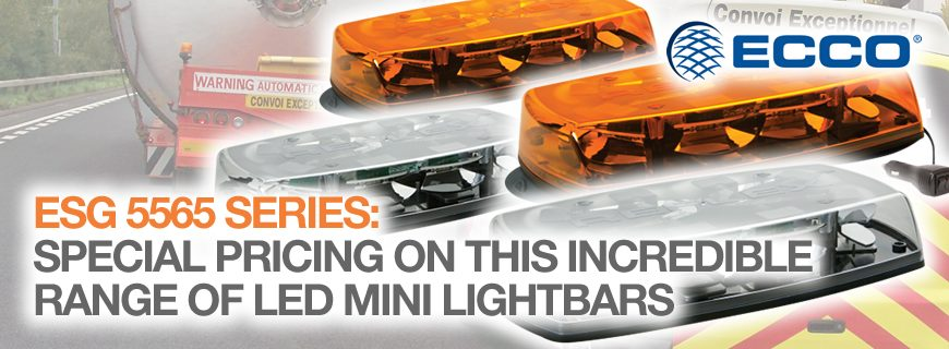ESG 5565 Series LED mini lightbars, now on special offer