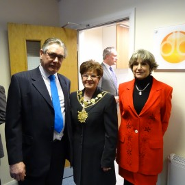 2013 - Mike & Jane Roberts with the Mayor of Wakefield, Janet Holmes