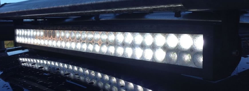 LED work lighting with water ingress problems