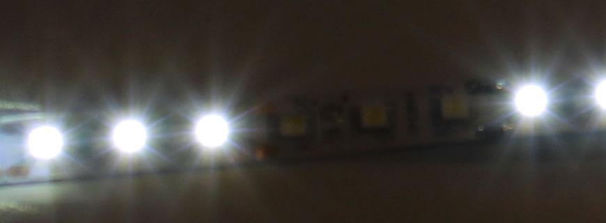 Faulty LED interior strip lighting