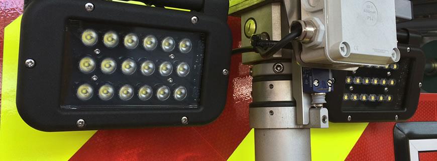 Redtronic Night Angel lights on a fire engine