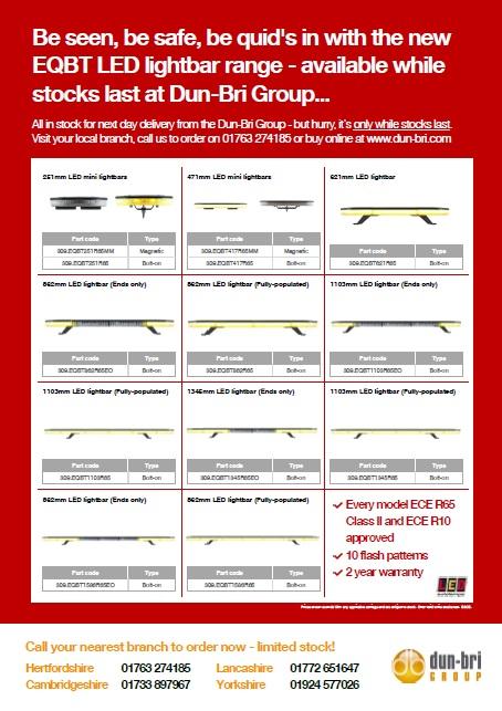 EQBT LED lightbar range