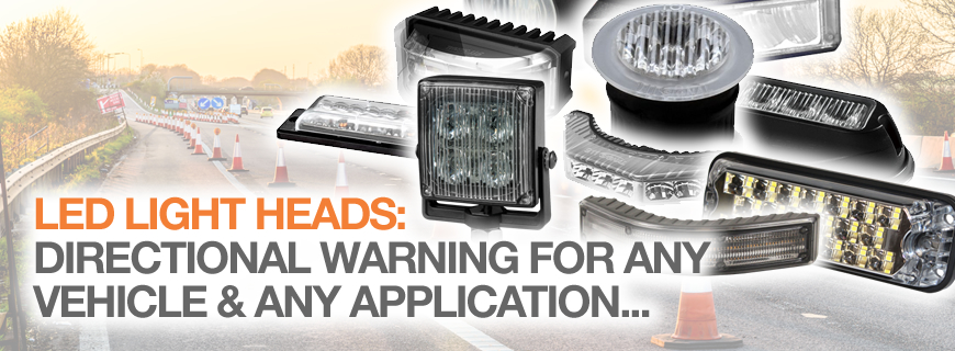 LED light heads: Directional warning for any vehicle…